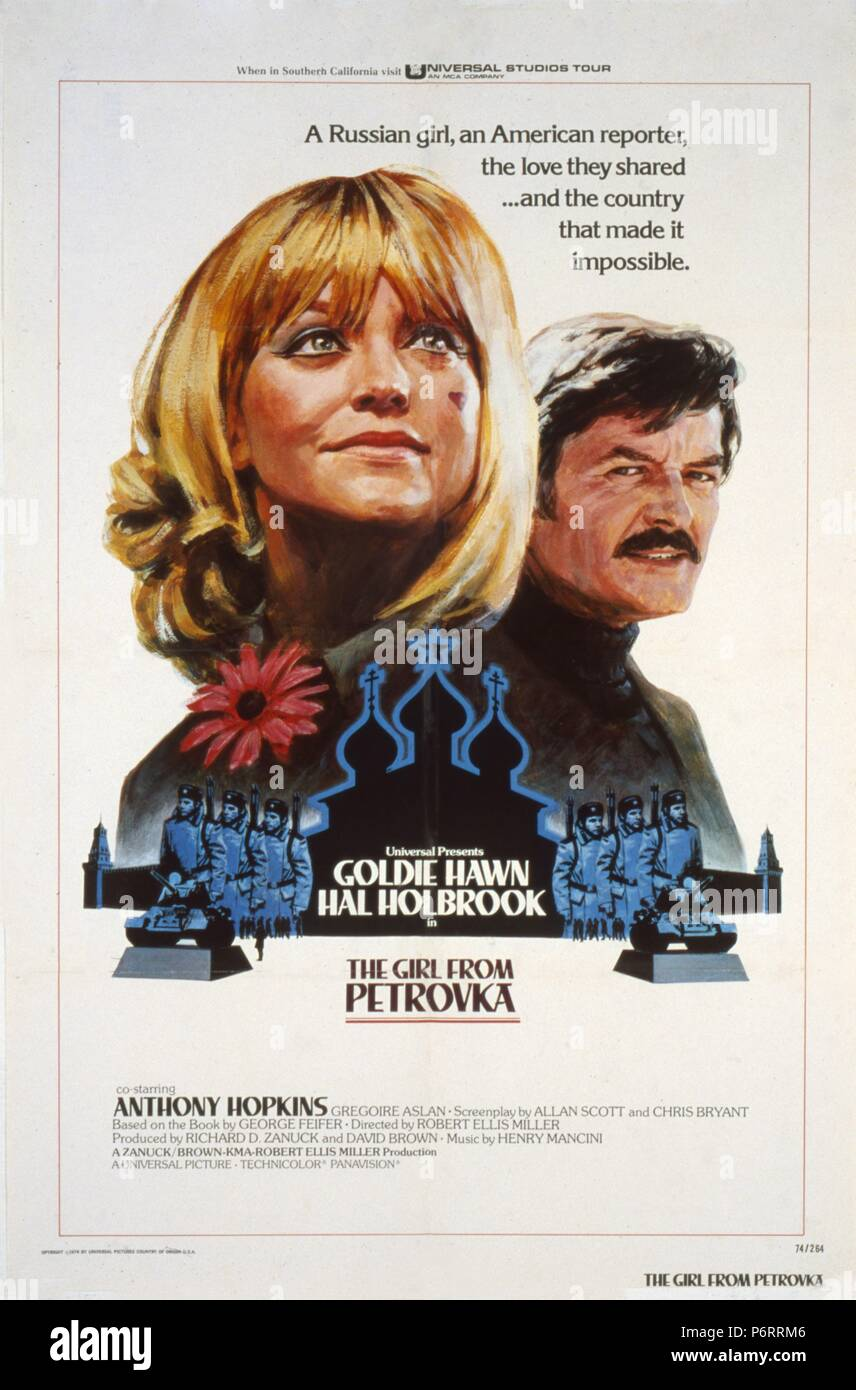 The Girl from Petrovka  Year : 1974 USA Director :  Robert Ellis Miller  Goldie Hawn, Hal Holbrook Poster (USA) - Stock Image