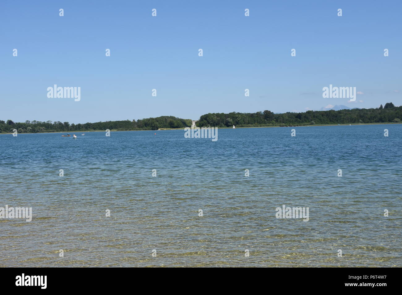 Chiemsee bei Prien in Bayern - Stock Image