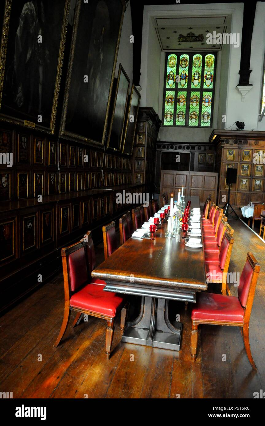 High Table in Middle Temple Hall, London UK. - Stock Image