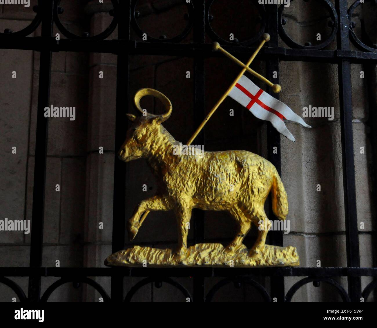 Insignia of Middle Temple on gate of Middle Temple Hall, London UK. - Stock Image