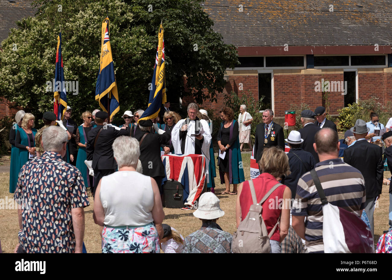 Sidmouth east Devon, England UK.  The Ham during a Armed Forces Day in Sidmouth - Stock Image