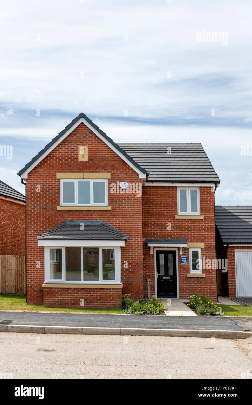 Newly constructed detached house Stock Photo