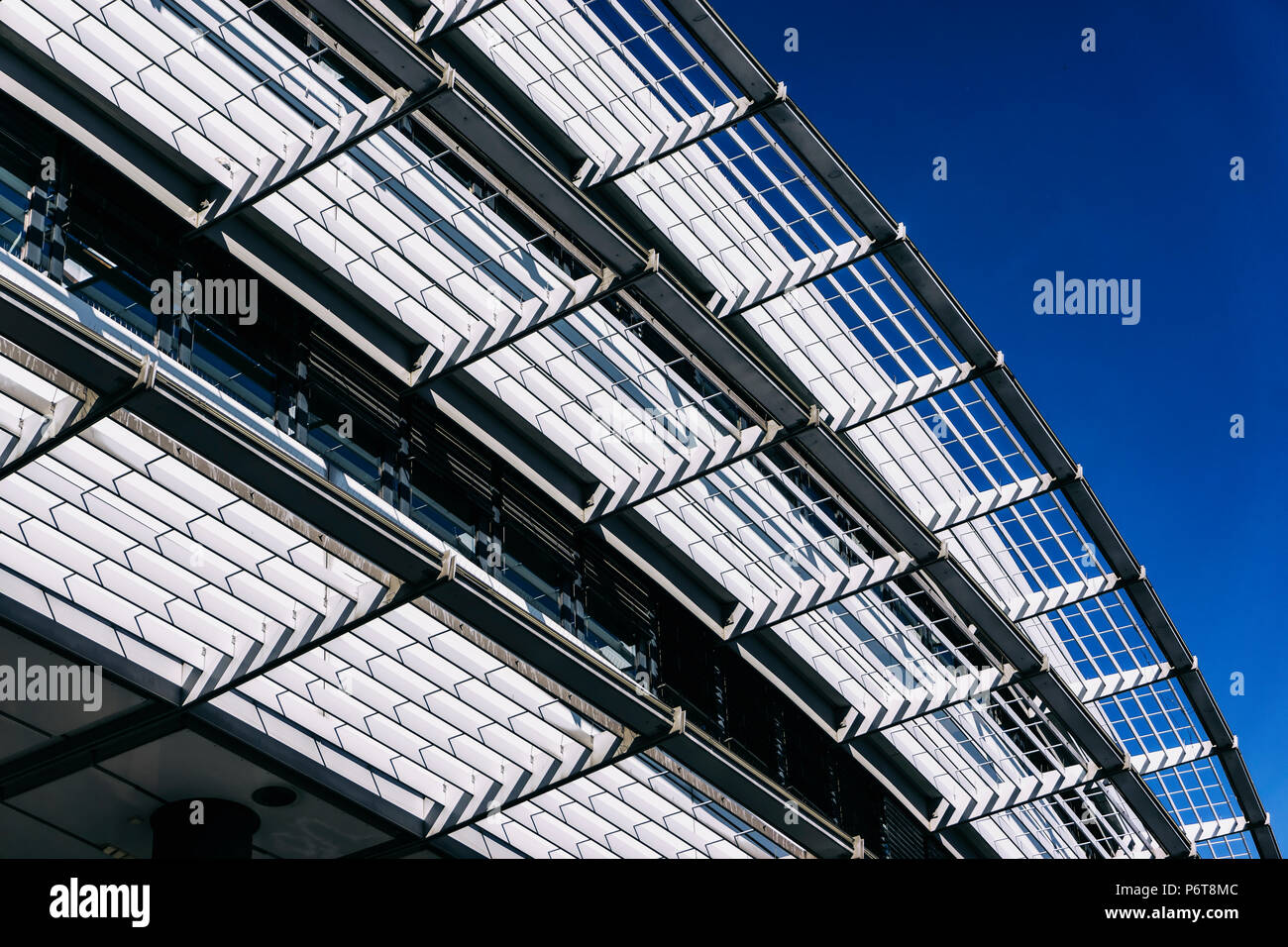 Berlin, Germany, June 06, 2018: Architectural Feature of Modern Shopping Mall Building - Stock Image