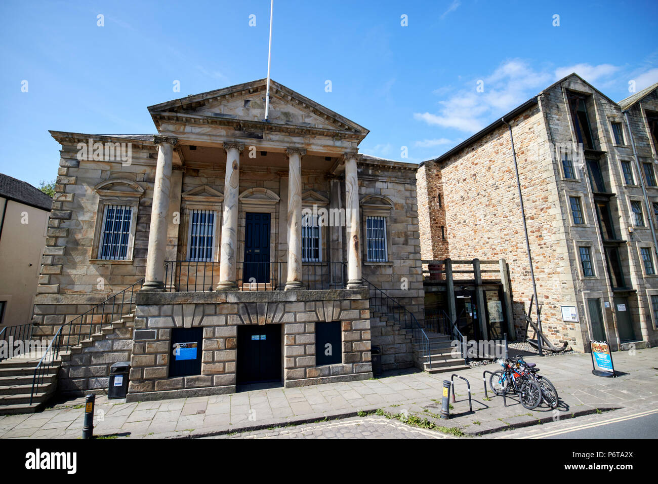 Lancaster maritime museum in the old custom house st georges quay lancaster england uk - Stock Image