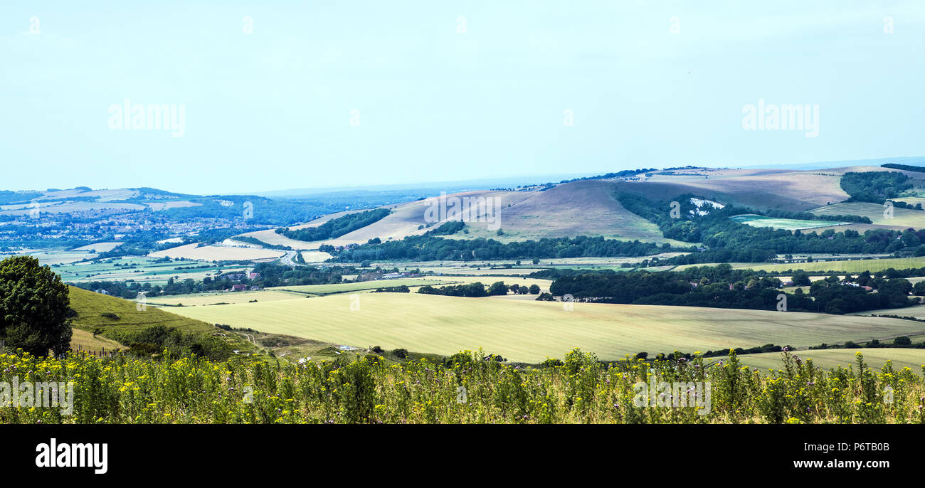 The Iron Age Fort at Glynde in East Sussex, England - Stock Image