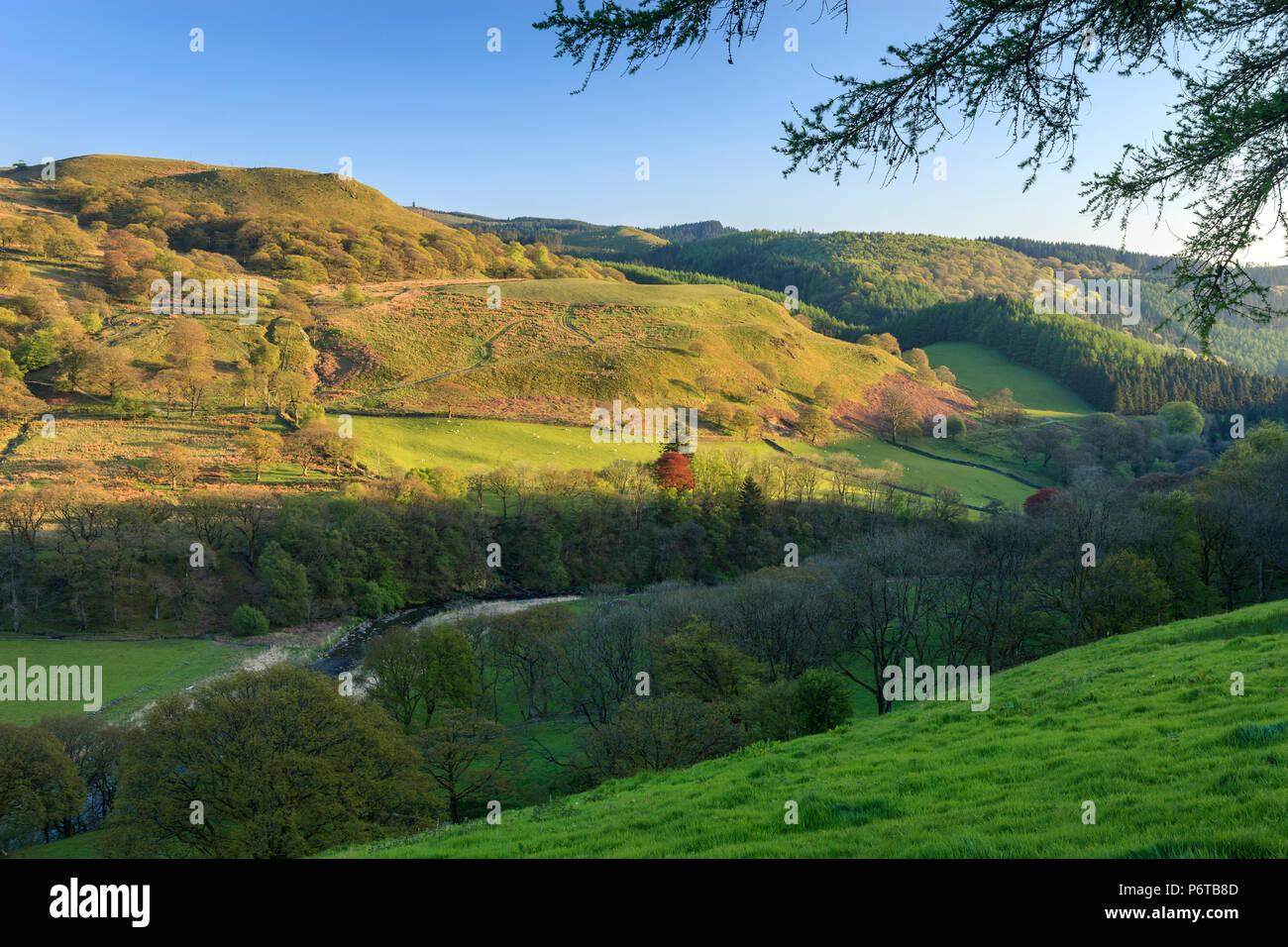 Cwmystwyth near Devil's Bridge and Pont-rhyd-y-groes Ceredigion Wales - Stock Image