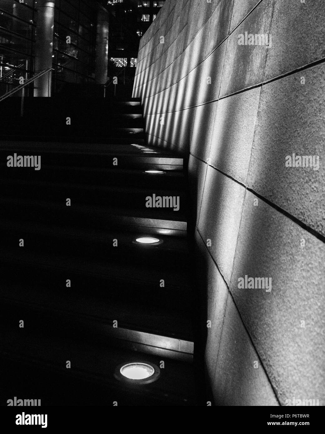 Stairs into the dark - Stock Image