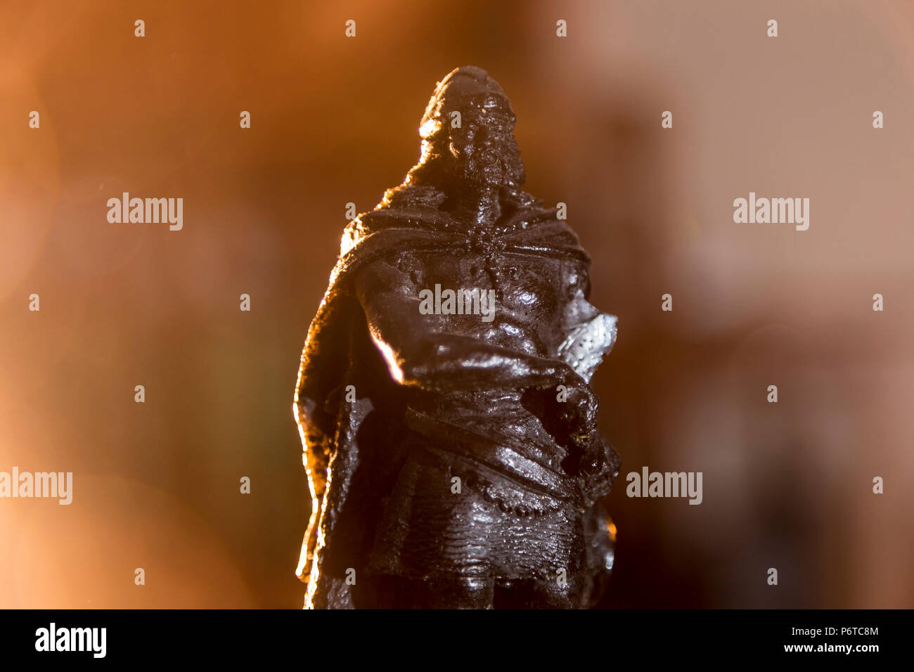representation of Don Pelayo warrior Asturian initiator reconquest in Spain - Stock Image