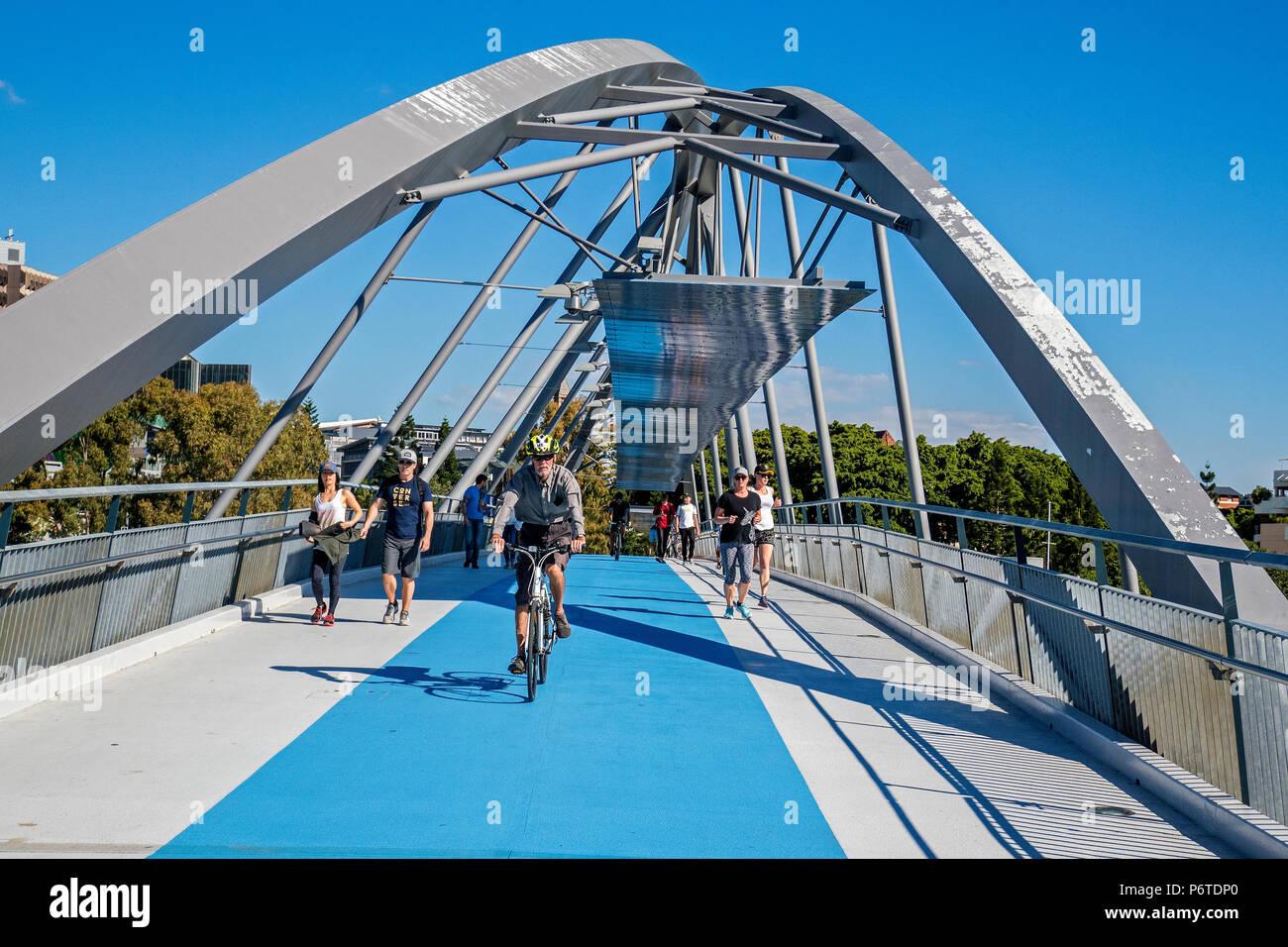 goodwill bridge, brisbane - Stock Image