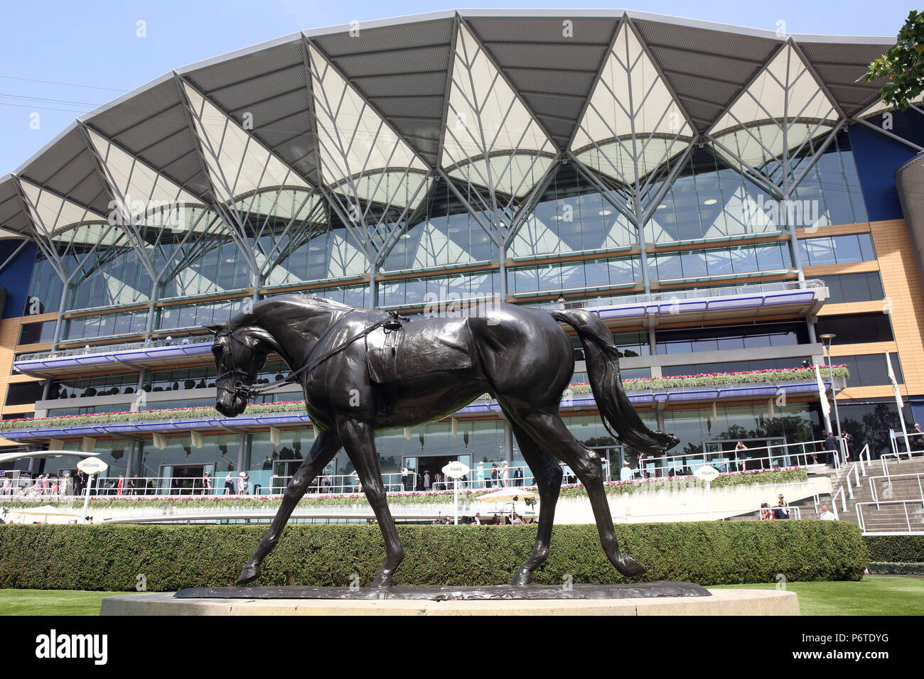 Royal Ascot, View at the grandstand - Stock Image