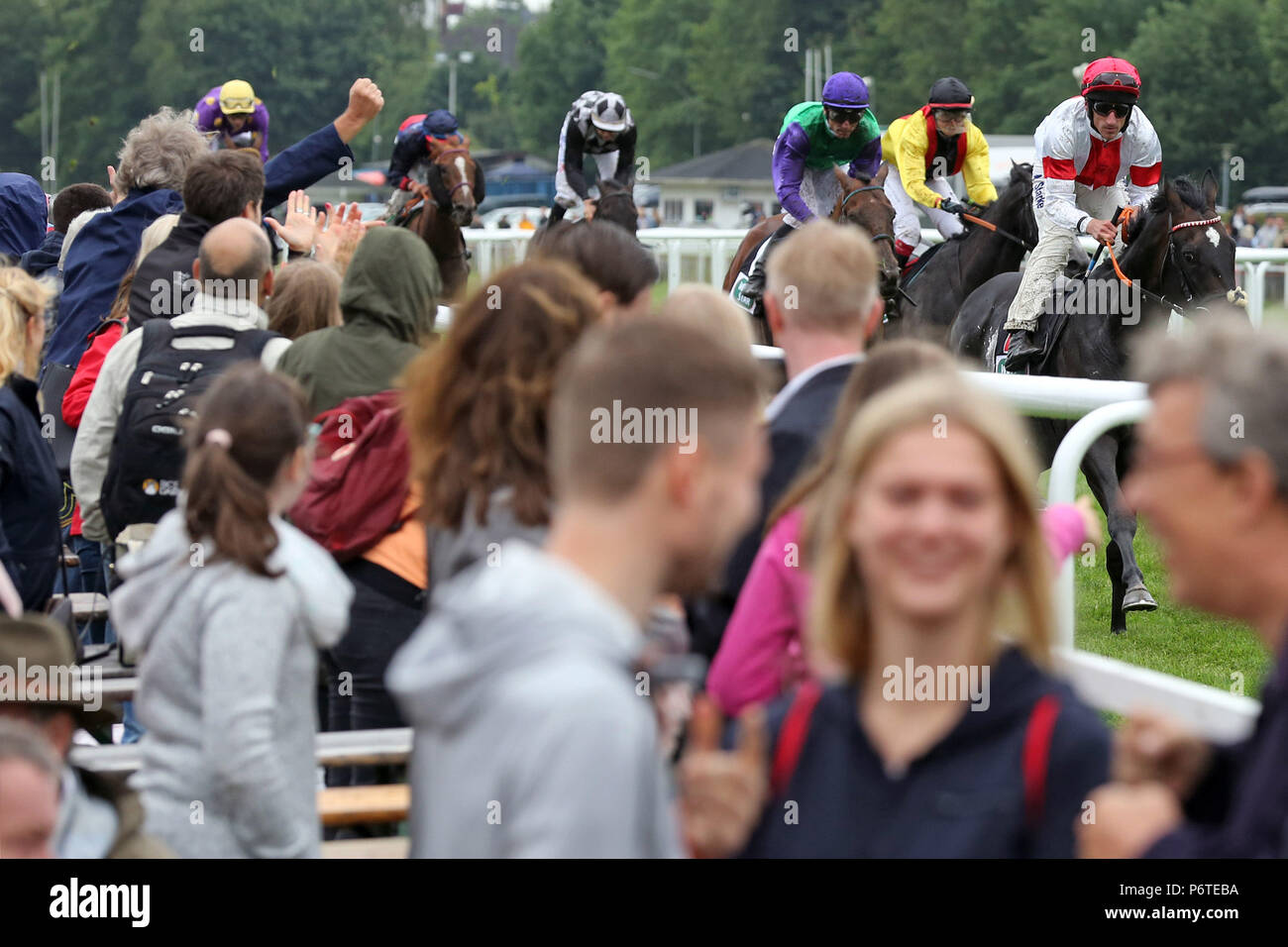 Hamburg, people at the gallop race - Stock Image