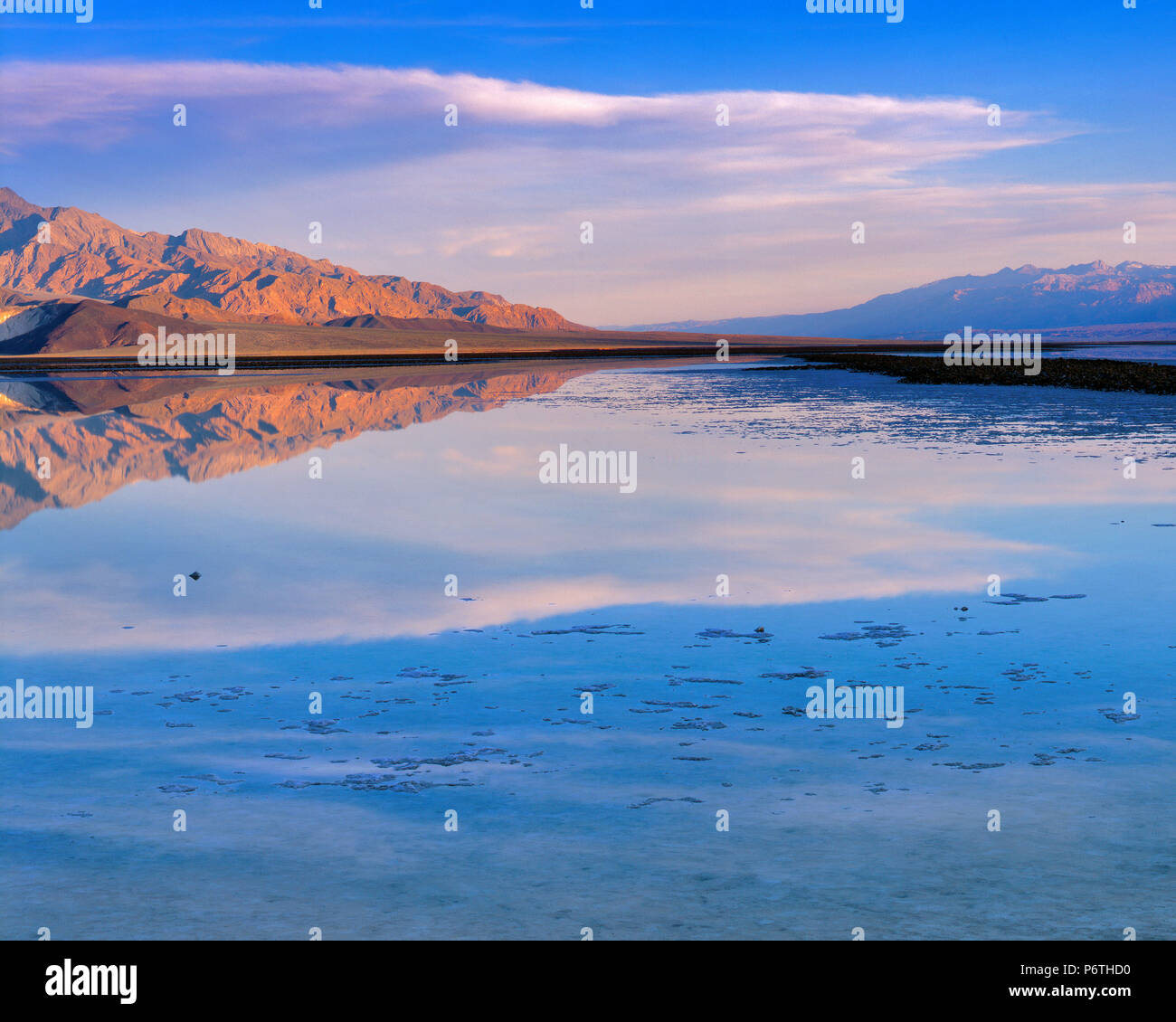 Sunrise, Salt Creek, Death Valley National Park, California - Stock Image