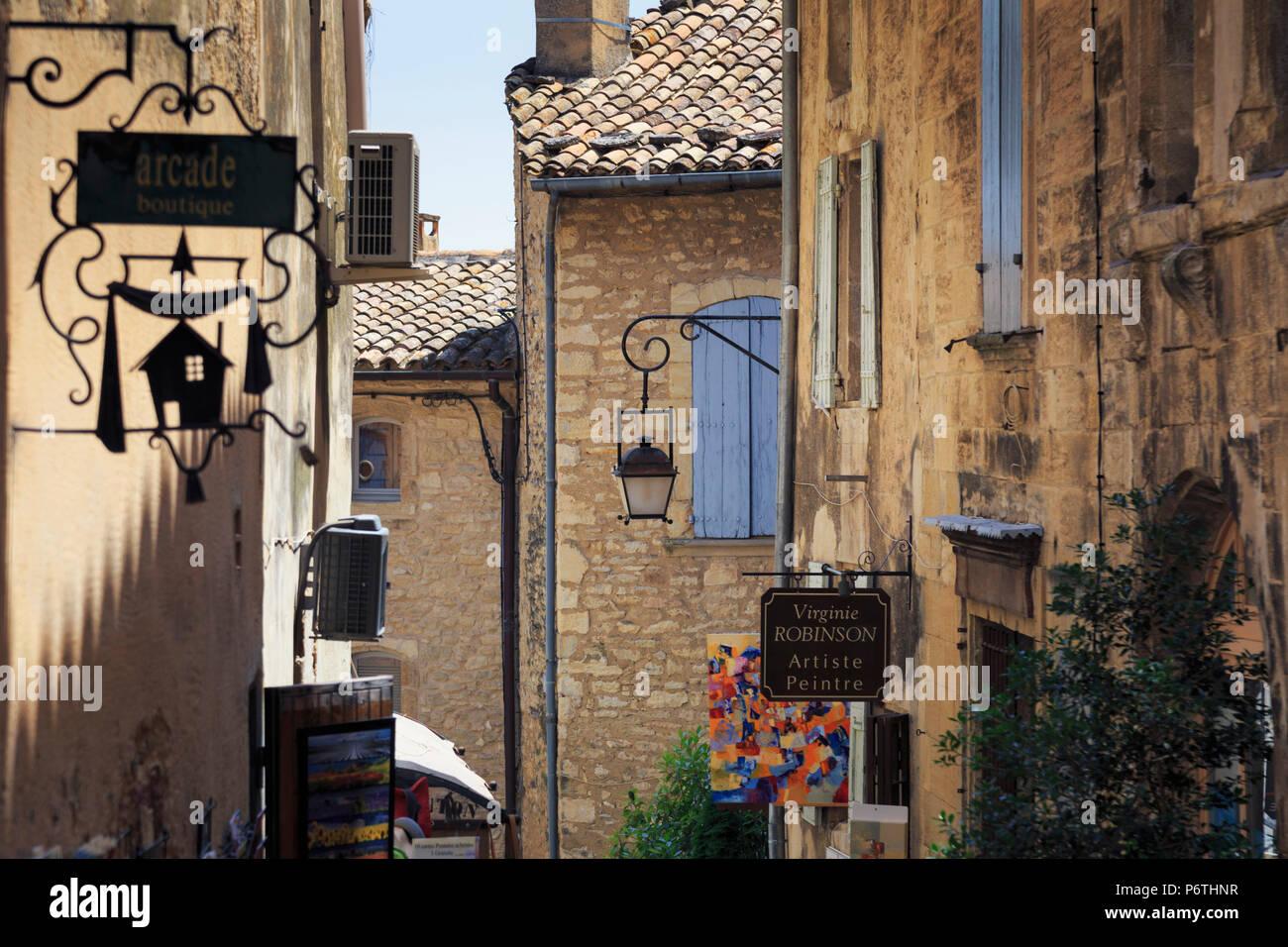 France, Provence Alps Cote d'Azur, Haute Provence, Gordes - Stock Image