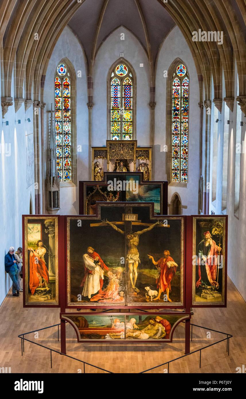 The Isenheim Altarpiece in the Unterlinden Museum, Colmar, Alsatian Wine Route, France Stock Photo