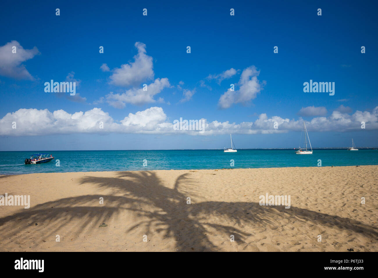 French West Indies, St-Martin, Friars Bay, beach - Stock Image