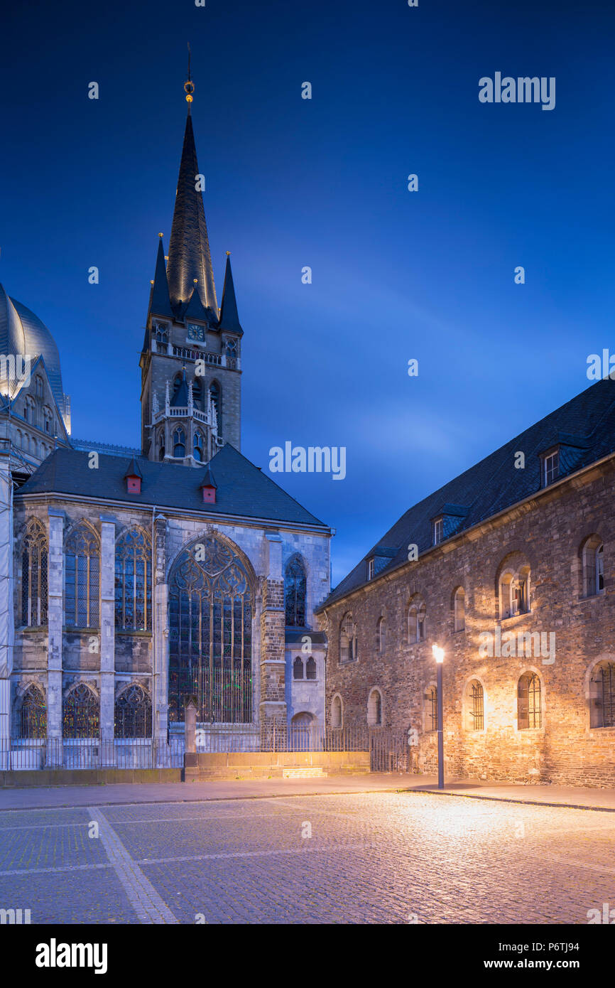 Aachen Cathedral (UNESCO World Heritage Site), Aachen, North Rhine Westphalia, Germany - Stock Image