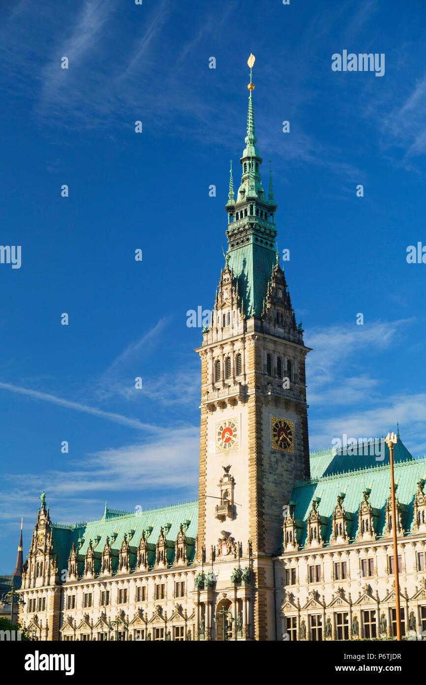 Rathaus (Town Hall), Hamburg, Germany - Stock Image