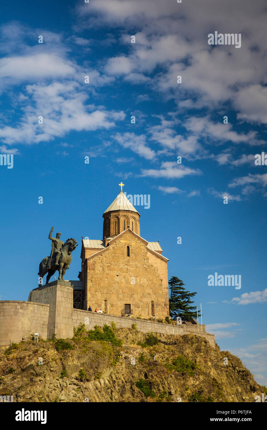 Georgia, Tbilisi, Avlabari, Metekhi Church - Stock Image