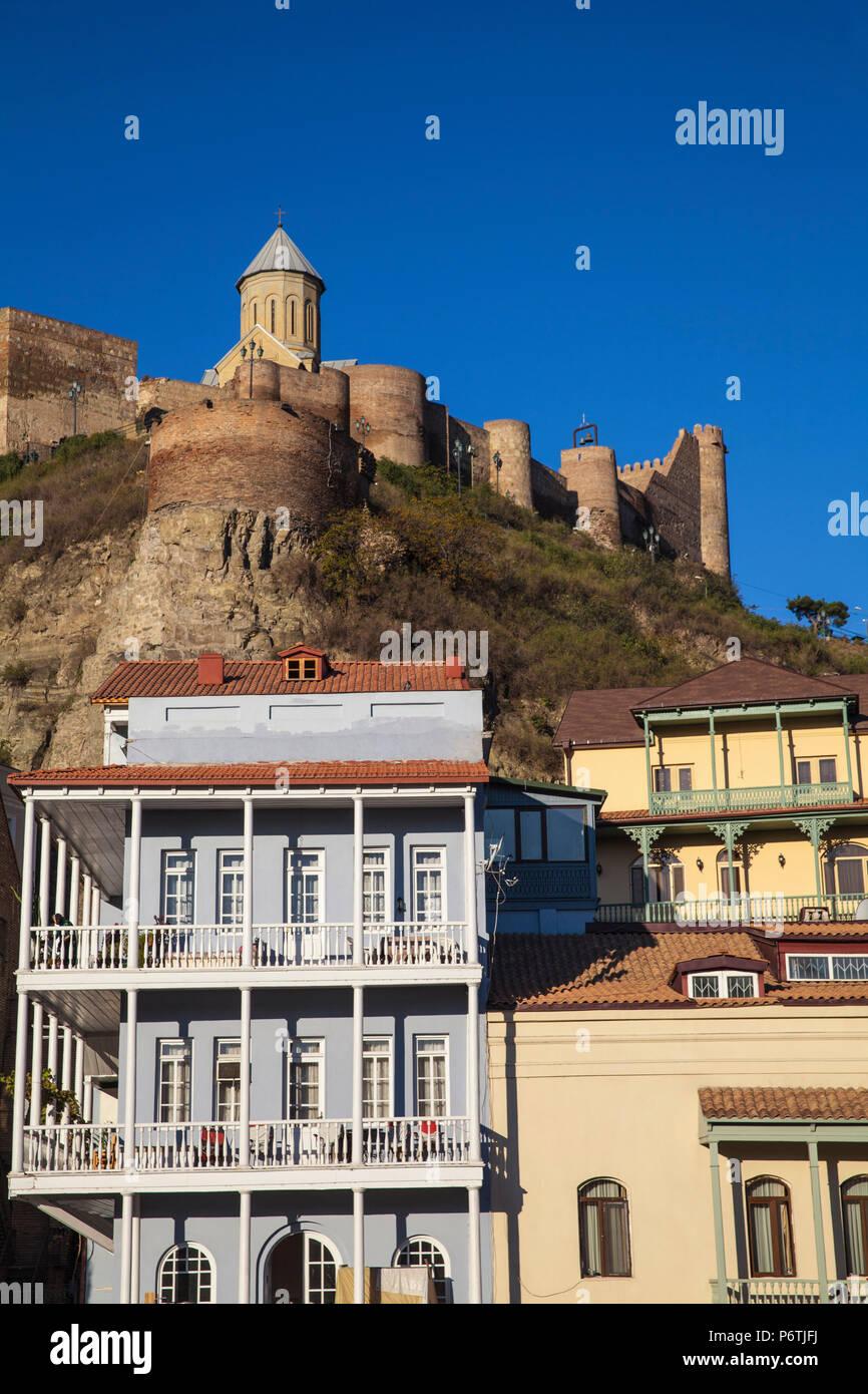 Georgia, Tbilisi, Narikala Fortress above Old town Stock Photo