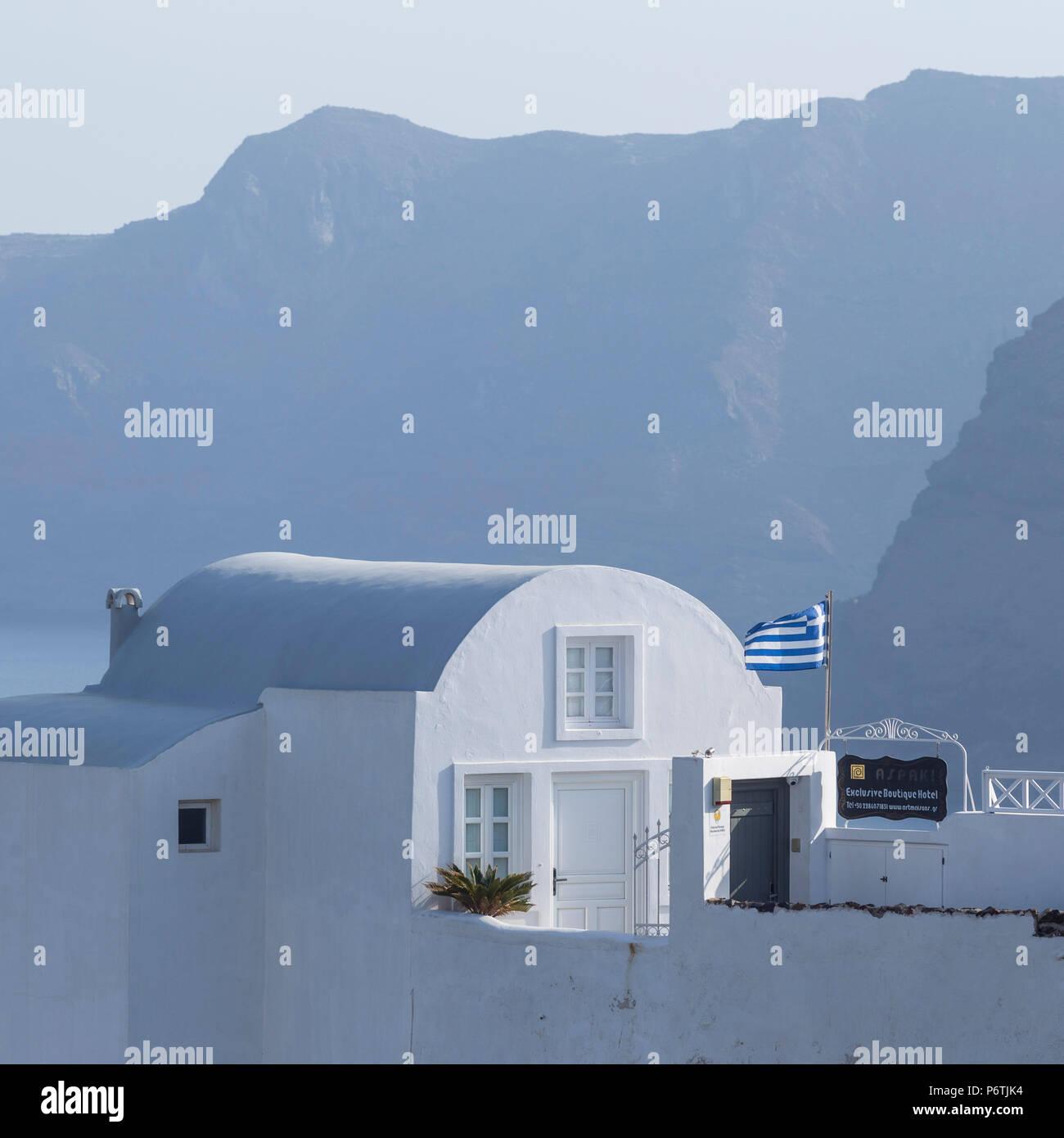 Oia, Santorini (Thira), Cyclades Islands, Greece Stock Photo