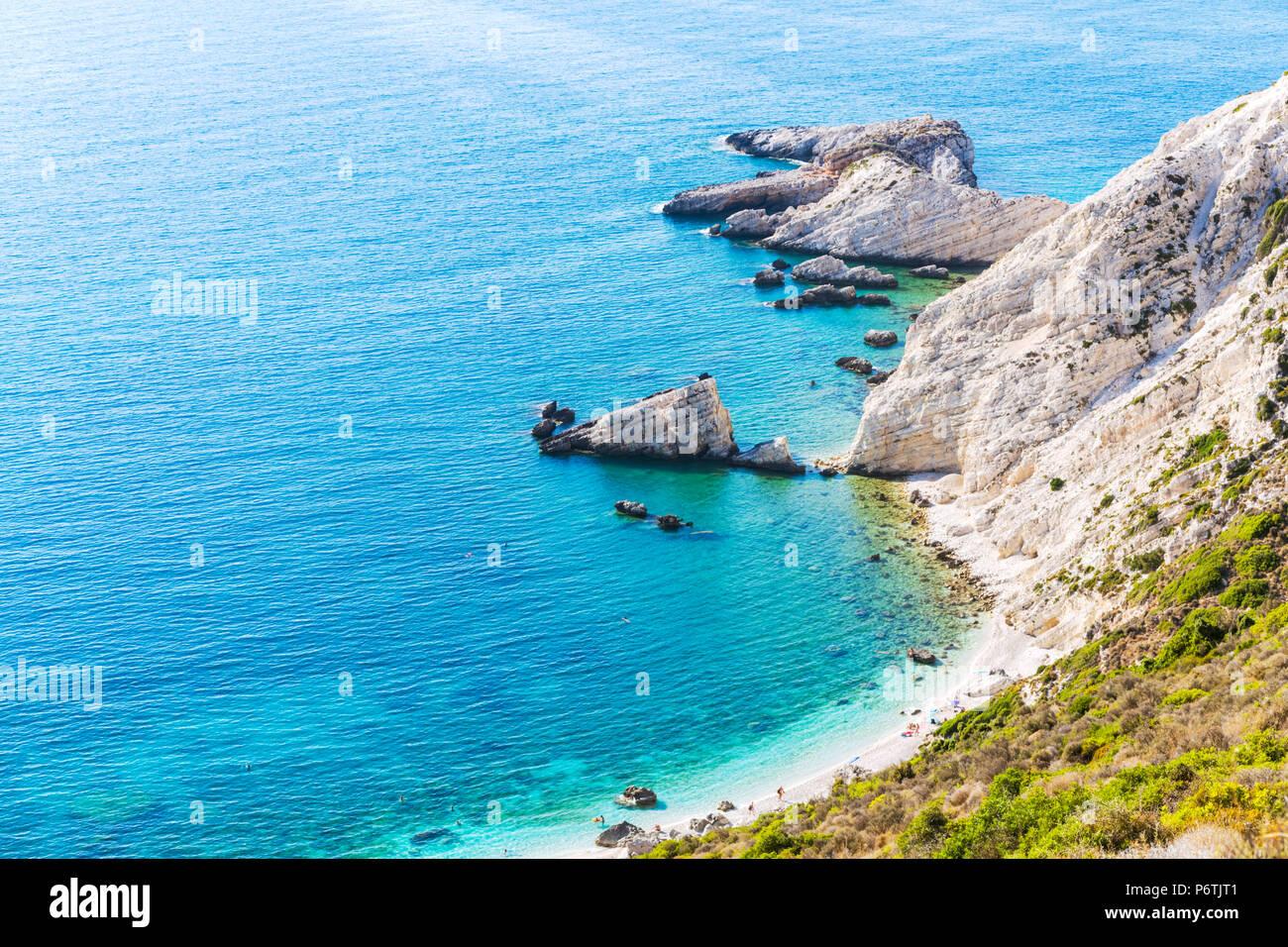 Coastline of the beautiful island of Kefalonia. Kefalonia, Greek Islands, Greece - Stock Image