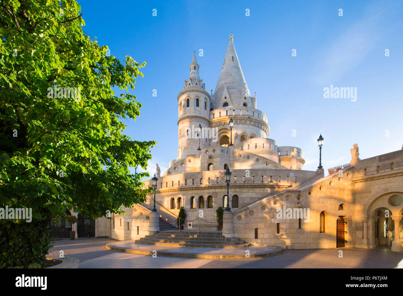 Hungary, Central Hungary, Budapest. Fisherman's Bastion takes it's name from the guild of fishermen responsible for defending this stretch of the city during the Middle Ages. - Stock Image