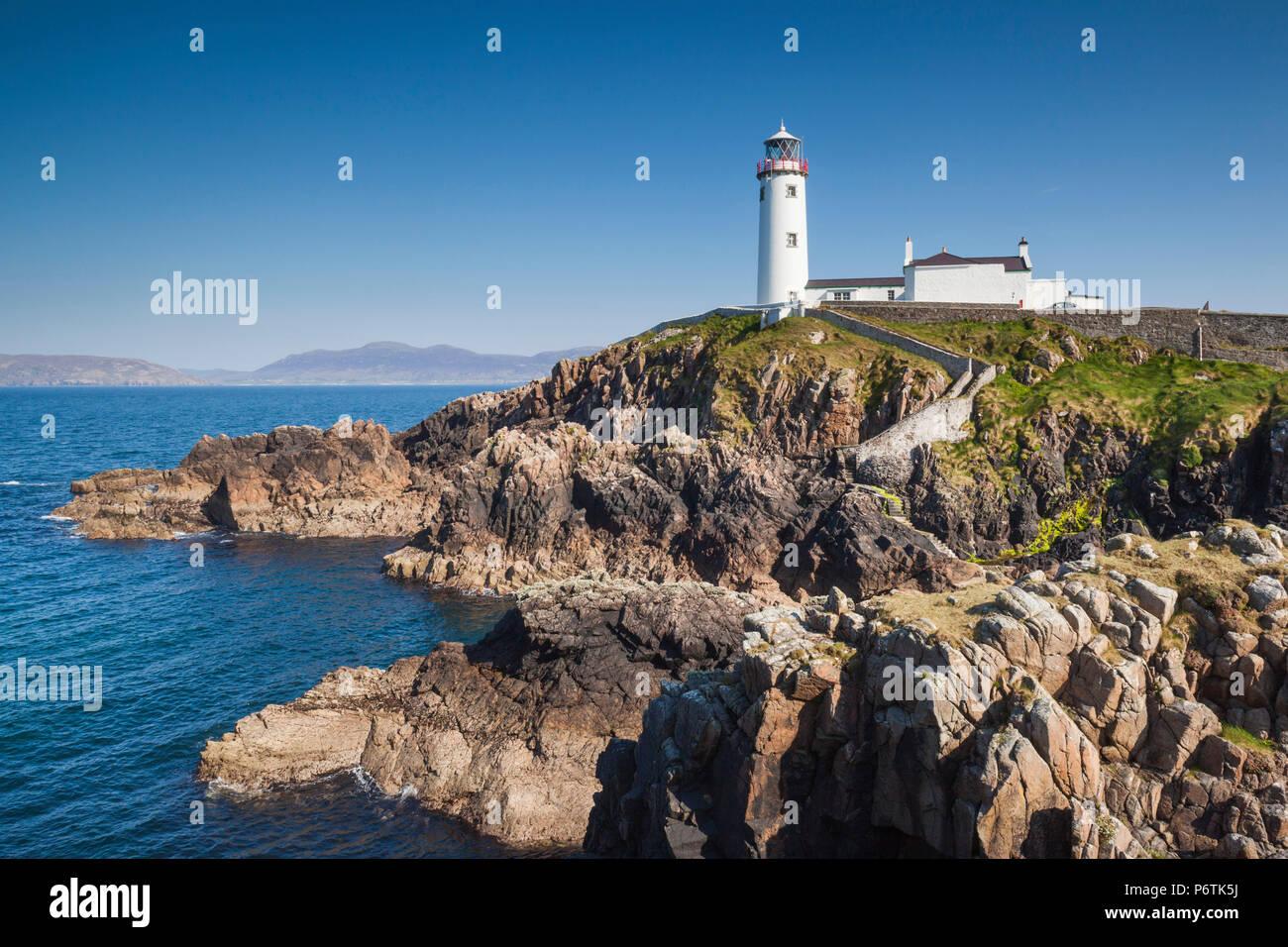 Ireland, County Donegal, Fanad Peninsula, Fanad Head Lighthouse - Stock Image