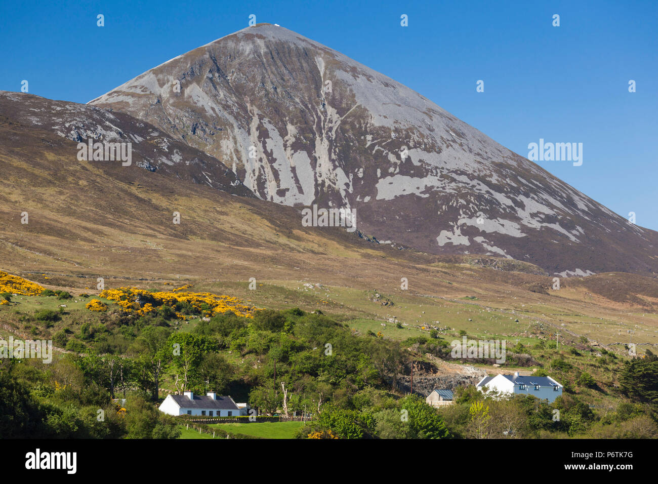 Ireland, County Mayo, Murrisk, view of Croagh Patrick Holy Mountain - Stock Image
