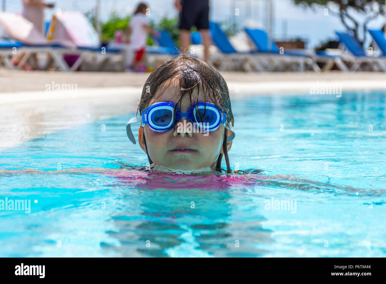 Little Girl Wearing Swimwear Stock Photos Little Girl Wearing Swimwear Stock Images Alamy