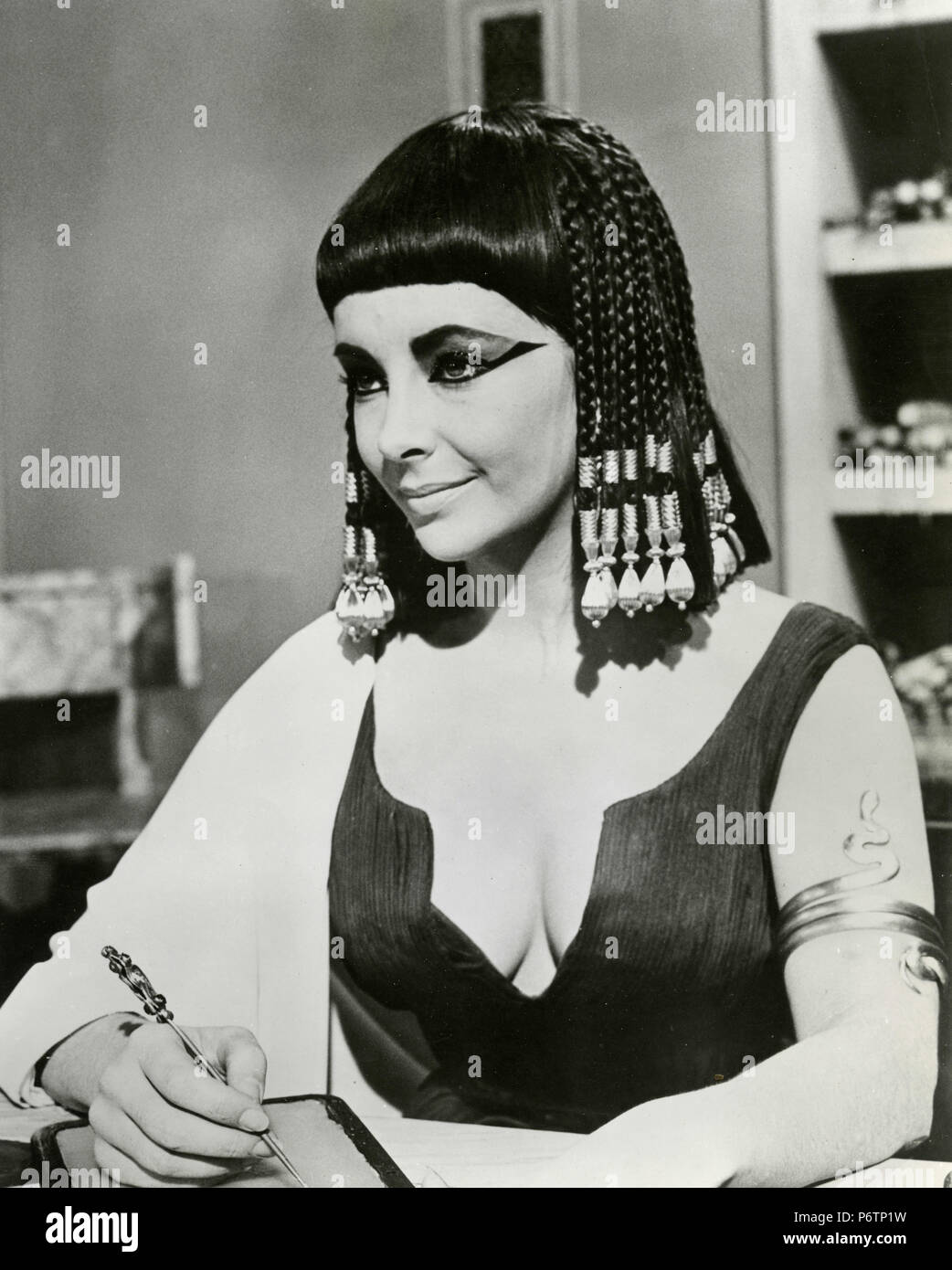 American actress Liz Taylor as Cleopatra, USA 1963 - Stock Image