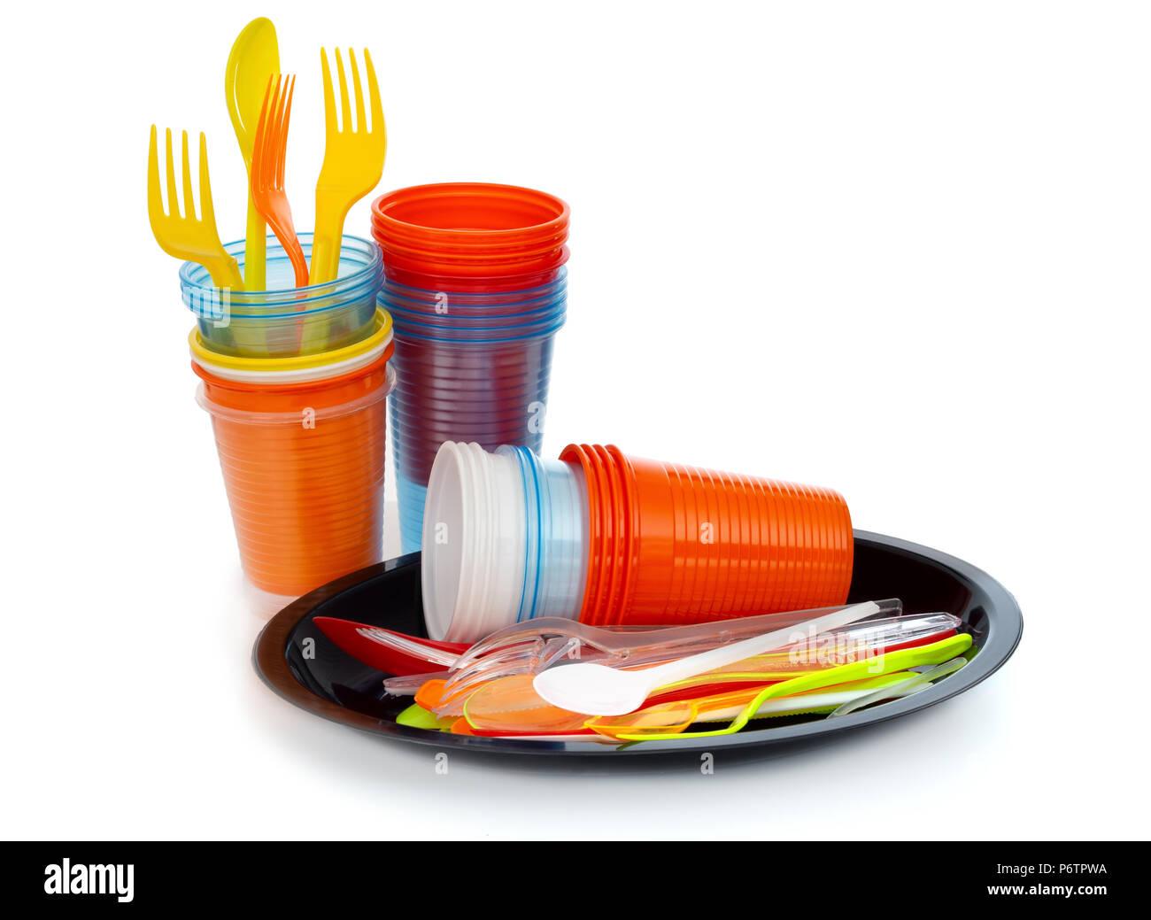 Single-use plastics, EU European directive to help environment. - Stock Image