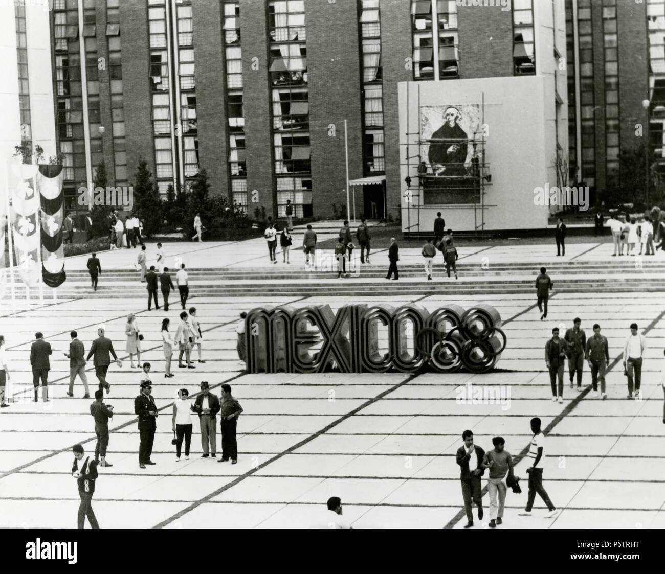 Mexico 68 Olympics Square, 1968 - Stock Image