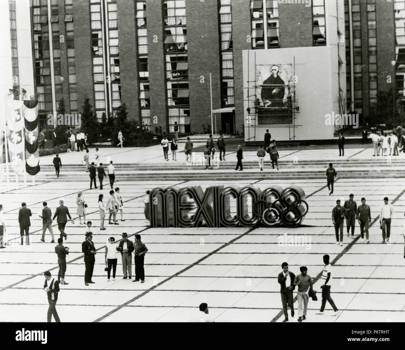 Mexico 68 Olympics Square, 1968 - Stock Image