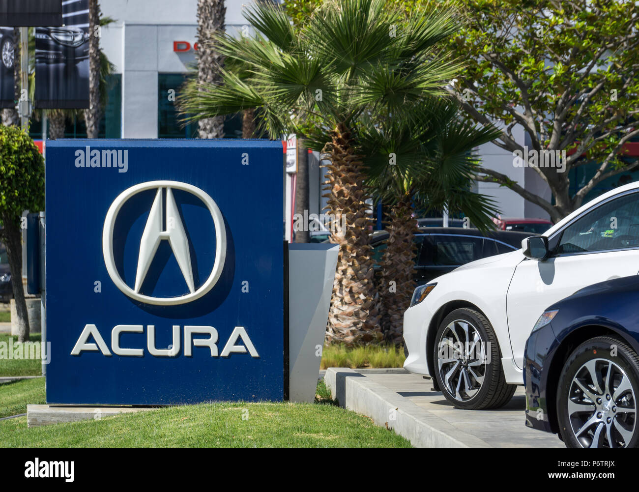 Los Angeles Ca Usa July 11 2015 Acura Automobile Dealership