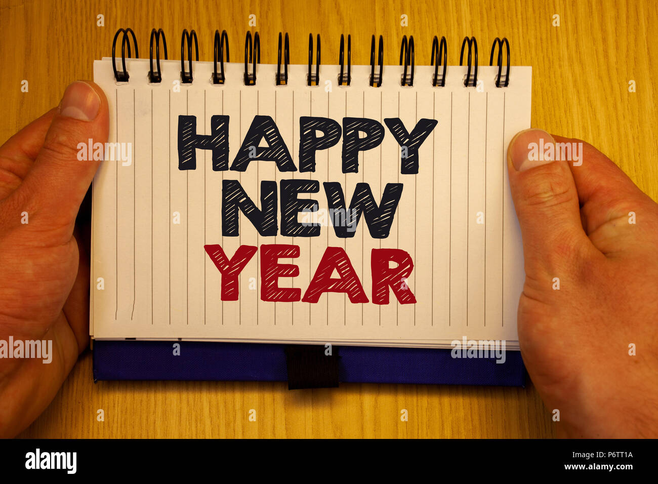 word writing text happy new year business concept for congratulations merry xmas everyone beginning of january papers ideas messages important rememb