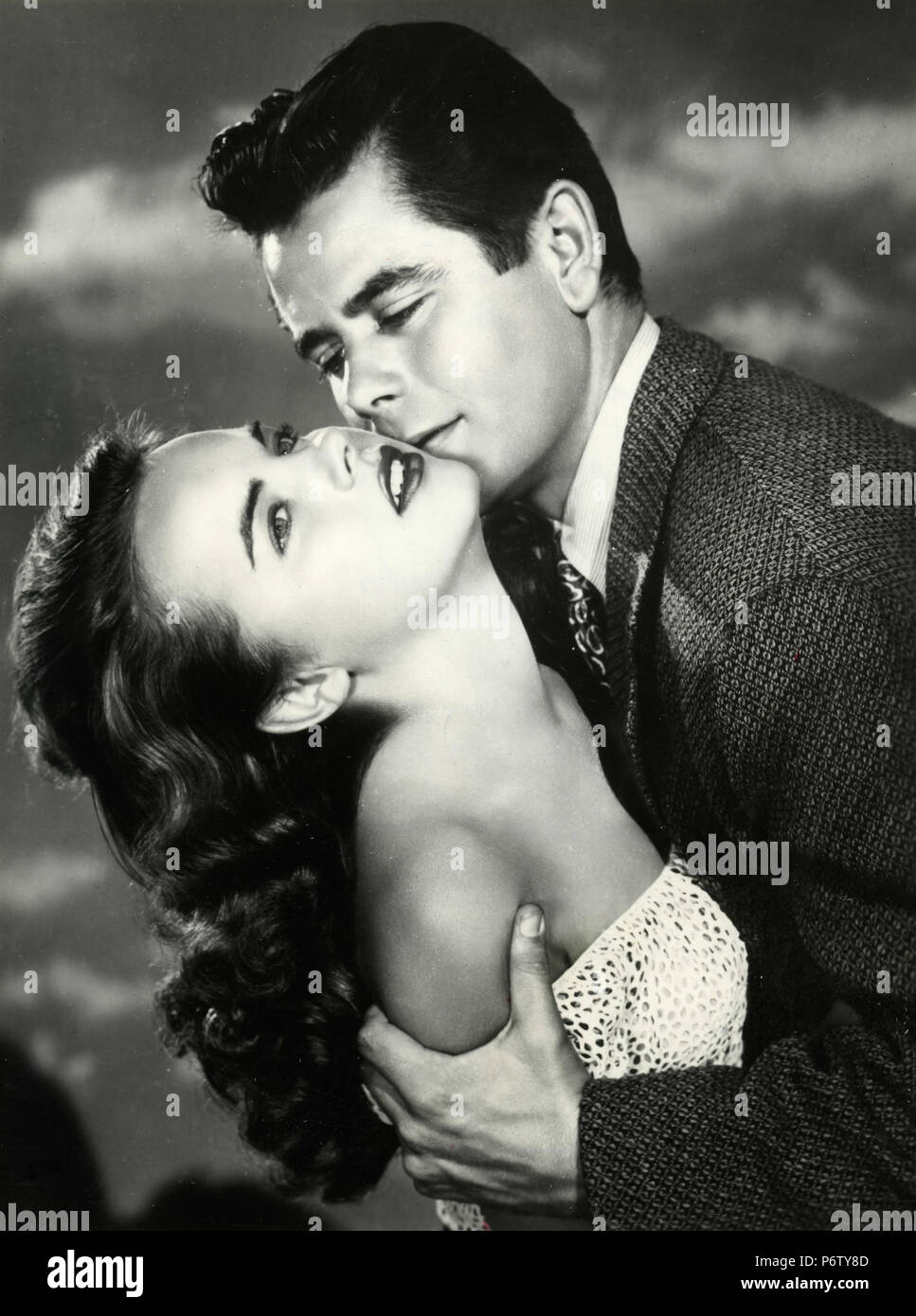 American actors Glenn Ford and Terry Moore in the movie The Return of October, 1948 - Stock Image