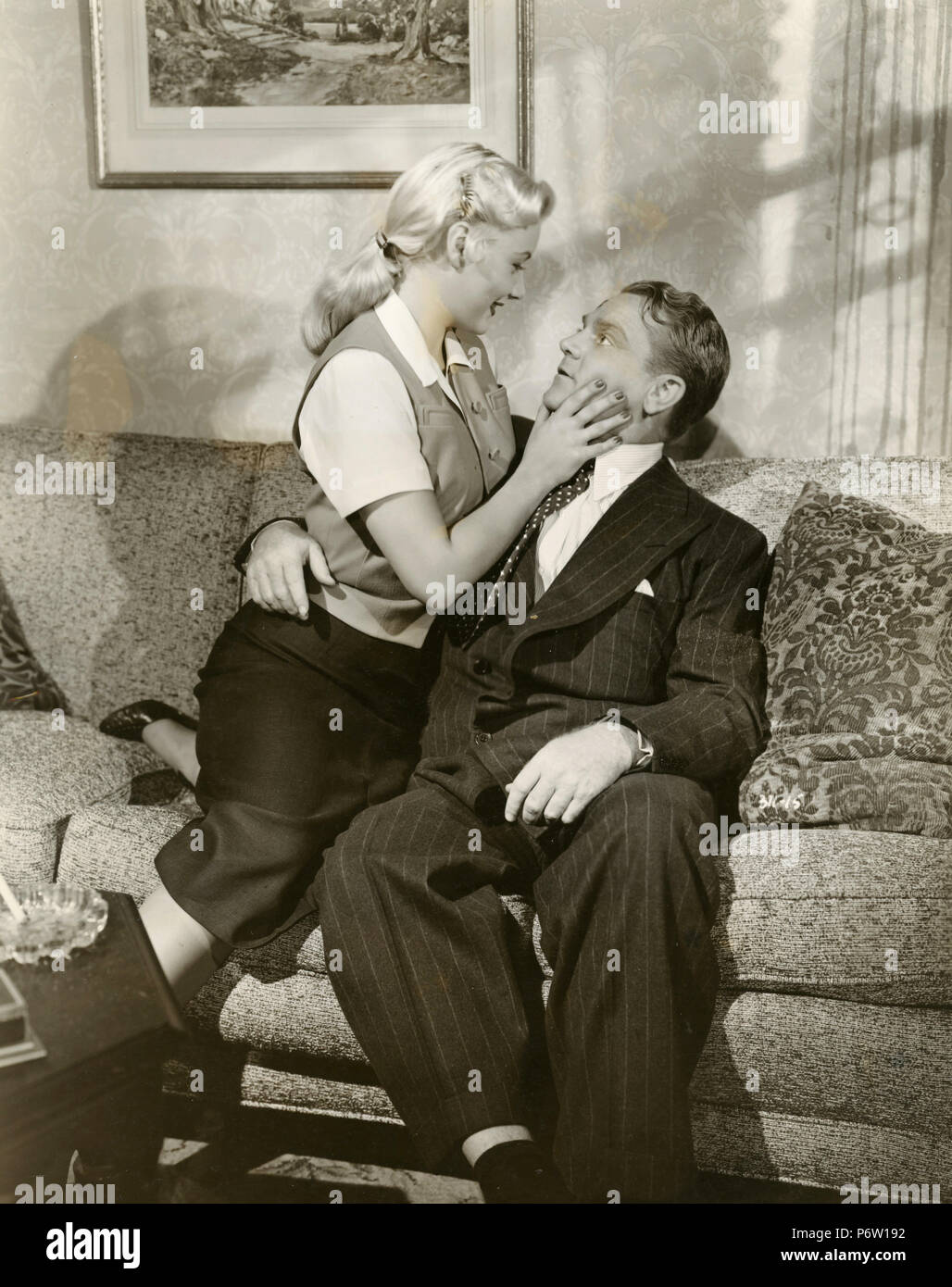 Actors James Cagney and Barbara Payton in the movie Kiss Tomorrow Goobye, 1950 - Stock Image
