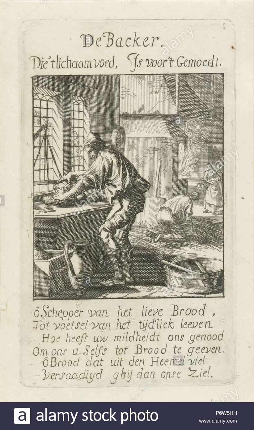 Baker, Jan Luyken, 1694.