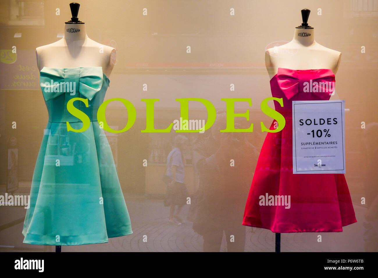 Summer sales, Lyon, France - Stock Image