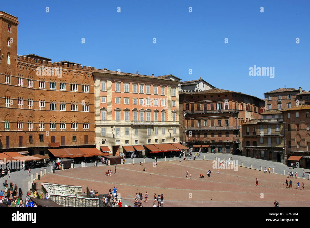 SIENA, ITALY - JULY 05, 2008: Piazza del Campo is the main square of Siena - Stock Image