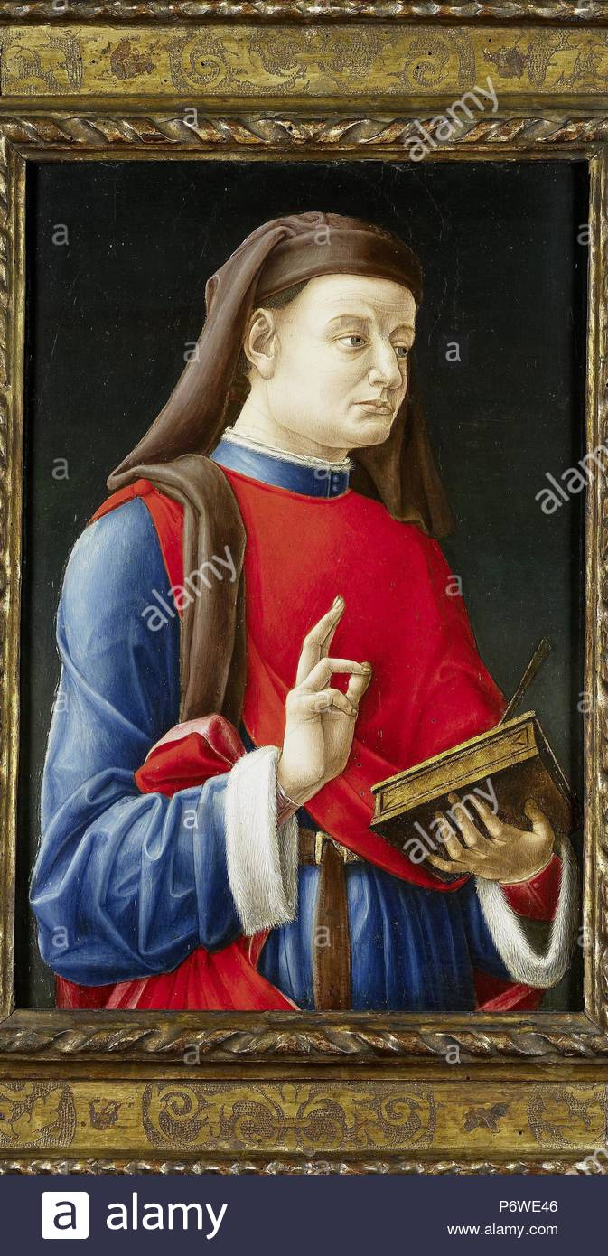 Saint Cosmas, or Damian, attributed to Bartolommeo Vivarini, 1460 - 1480. Stock Photo
