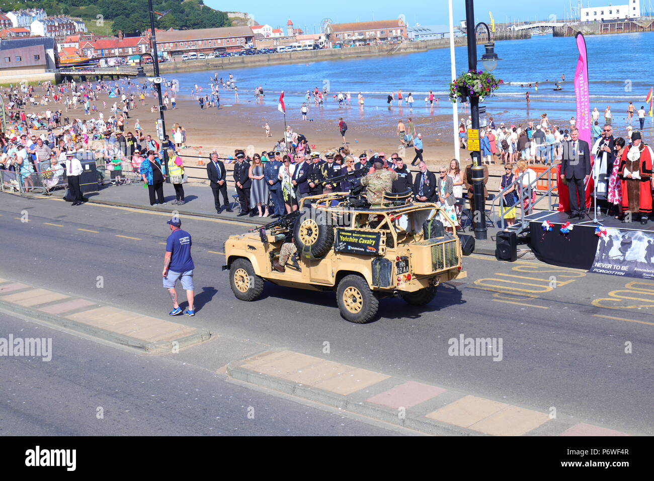 Parades taking place at Scarborough Armed Forces Day - Stock Image
