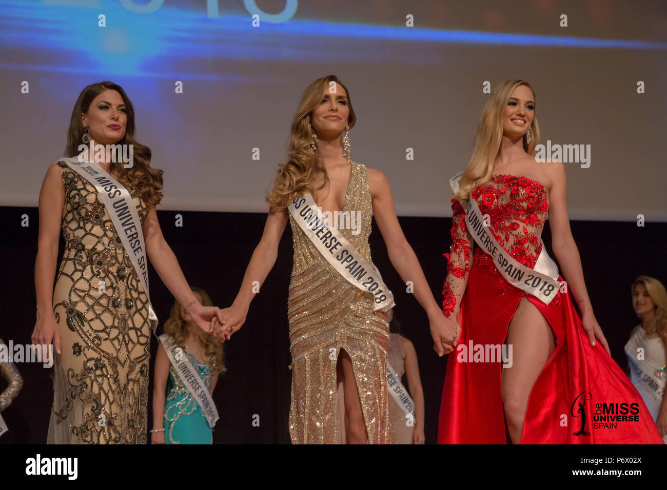 For the first time in history, a transsexual woman will participate in the Miss Universe representing Spain.  The representative of the Spanish beauty will be Angela Ponce, a famous LGTBI activist, who was elected last June 29 as Miss Universe of Spain.  66 / Cordon Press  Picture taken last June 29 - Stock Image