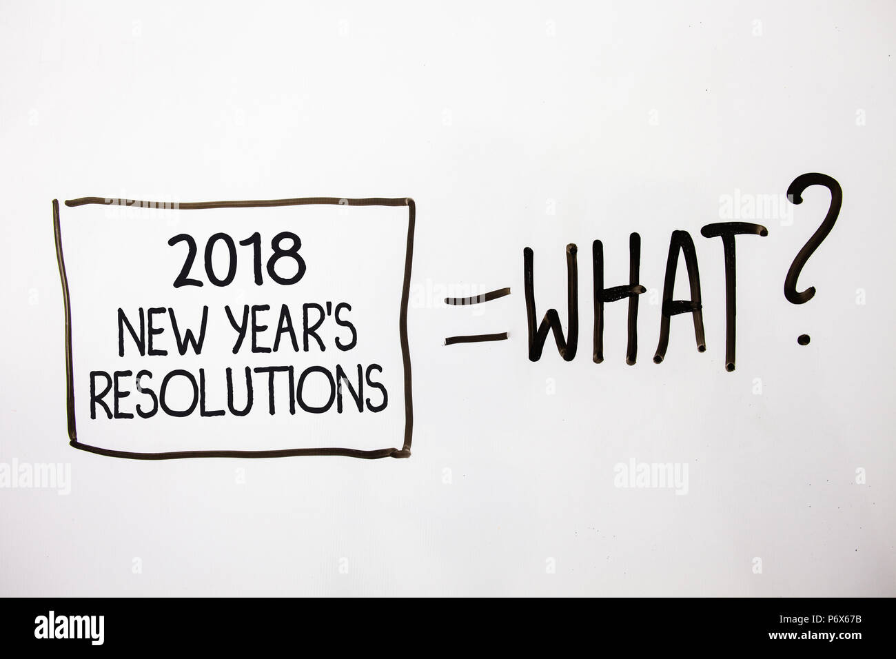 Handwriting text 2018 New Year\'S Resolutions. Concept meaning List ...