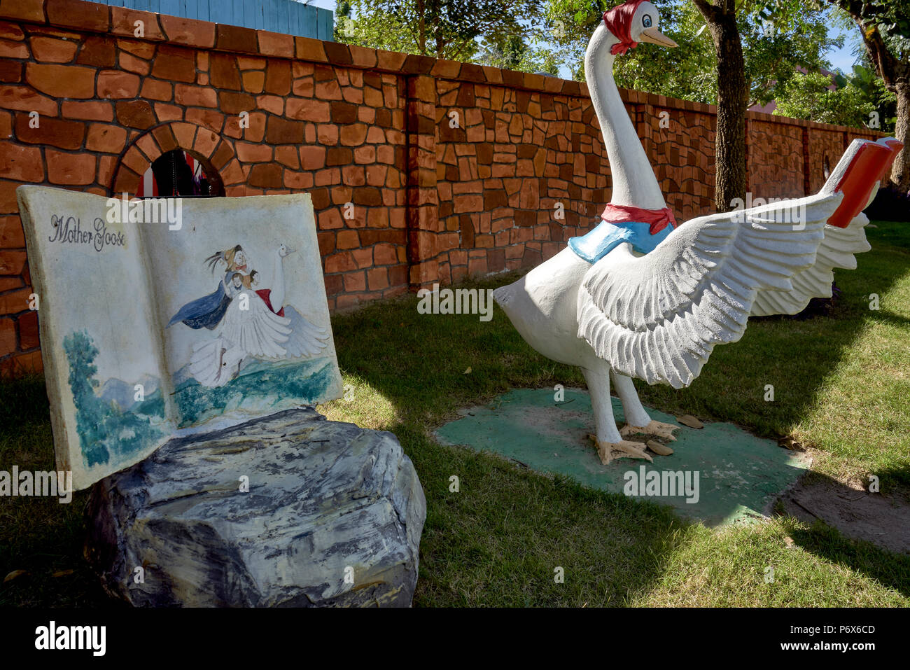 Theme park of children's Nursery Rhymes and story book characters at Pattaya Sheep farm, Thailand Southeast Asia. Storybook and nursery rhyme venue. - Stock Image