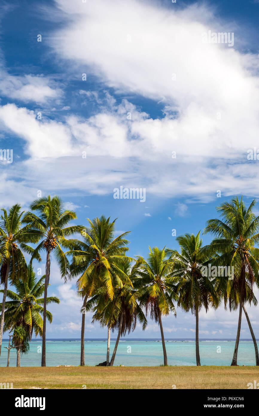 Cook Islands, Aitutaki Atoll, Lagoon - Stock Image