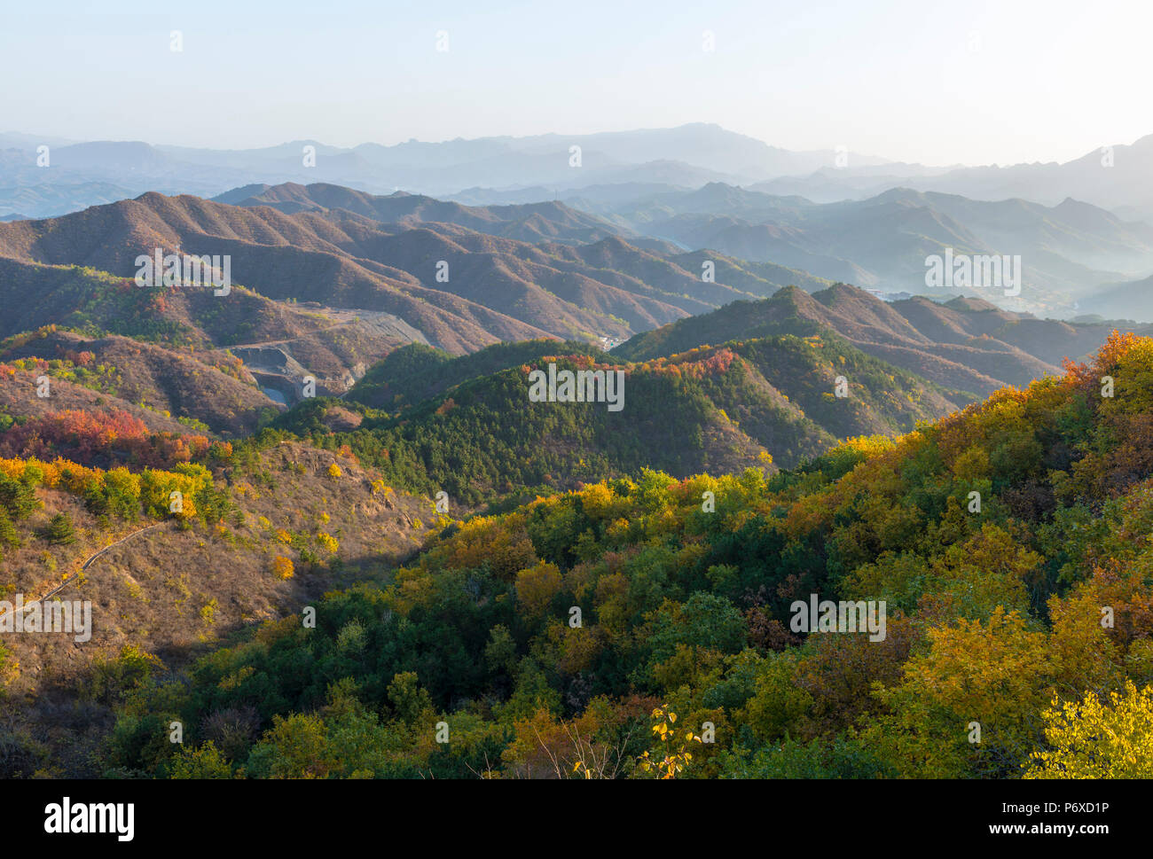 China, Hebei Province, Luanping County, Jinshanling, Great Wall of China - Stock Image