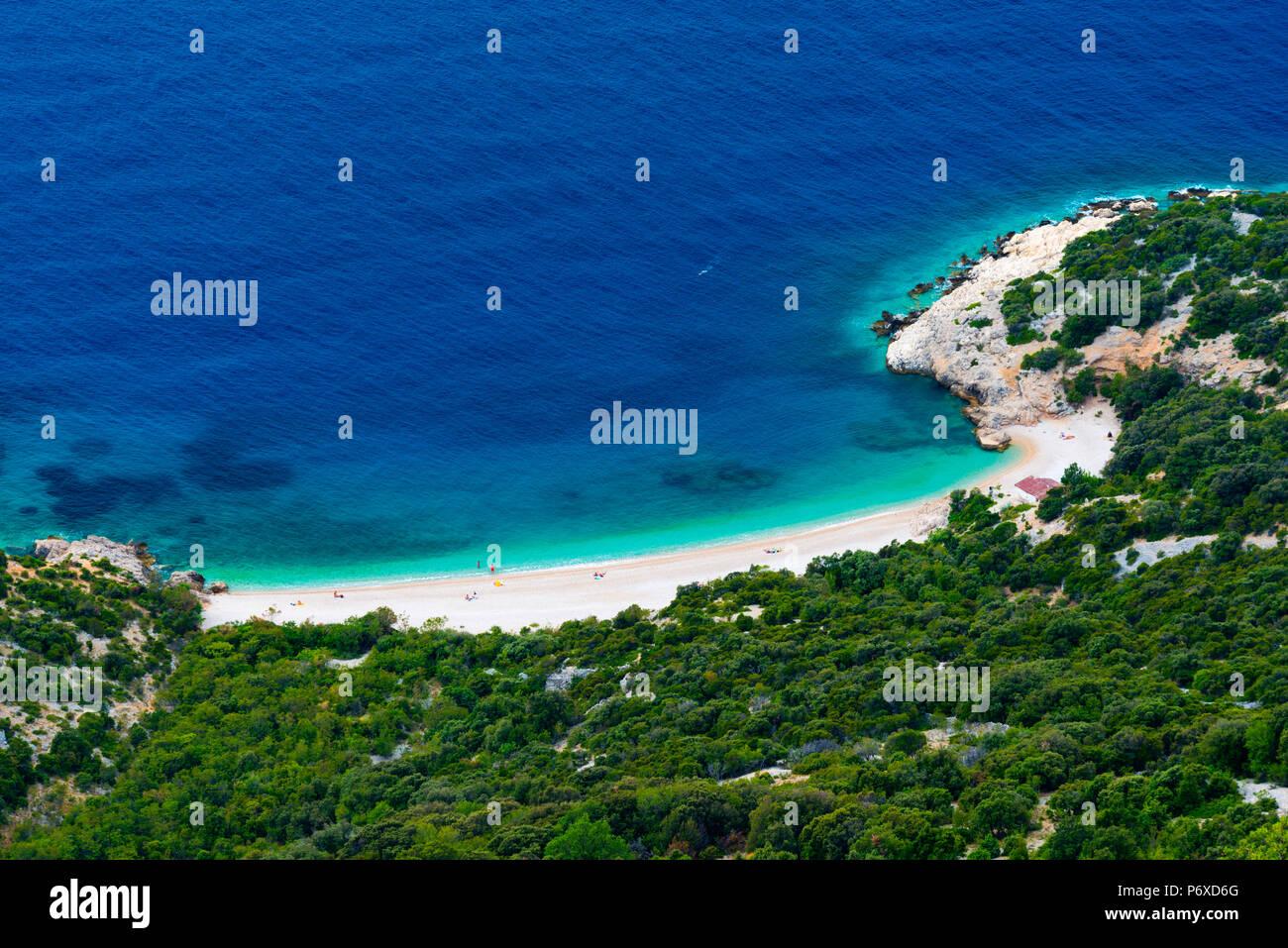 Croatia, Cres Island, Lubenice beach - Stock Image