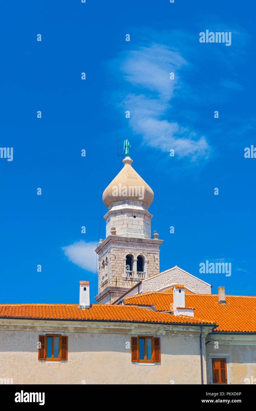 Croatia, Krk Island, Krk Town - Stock Image