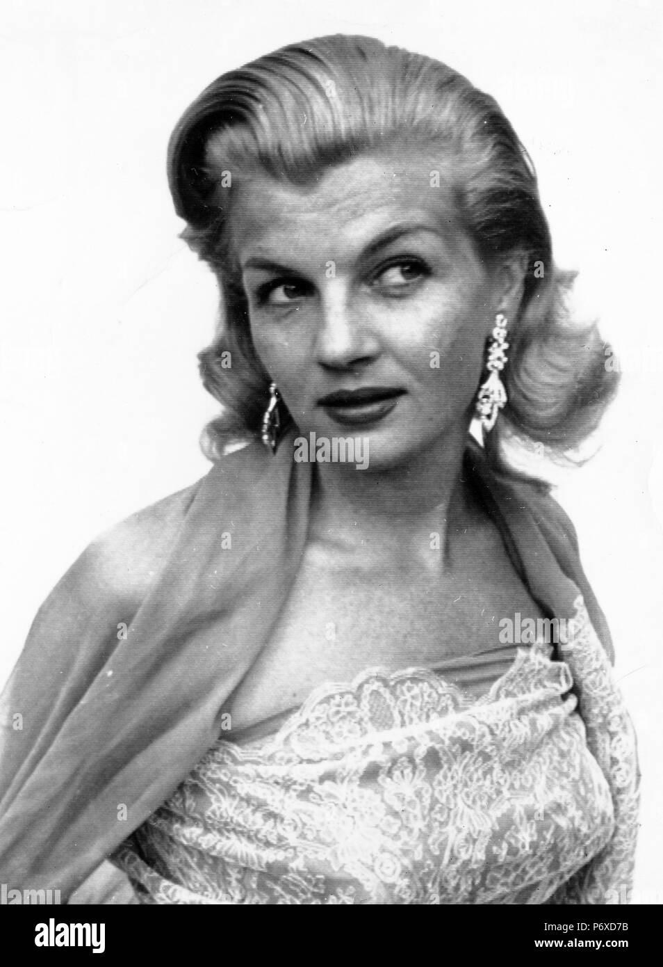 corinne calvet, 1956 - Stock Image